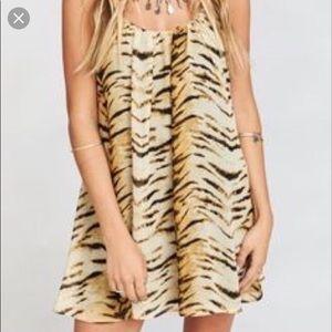 Tiger print show me your mumu mini dress size S